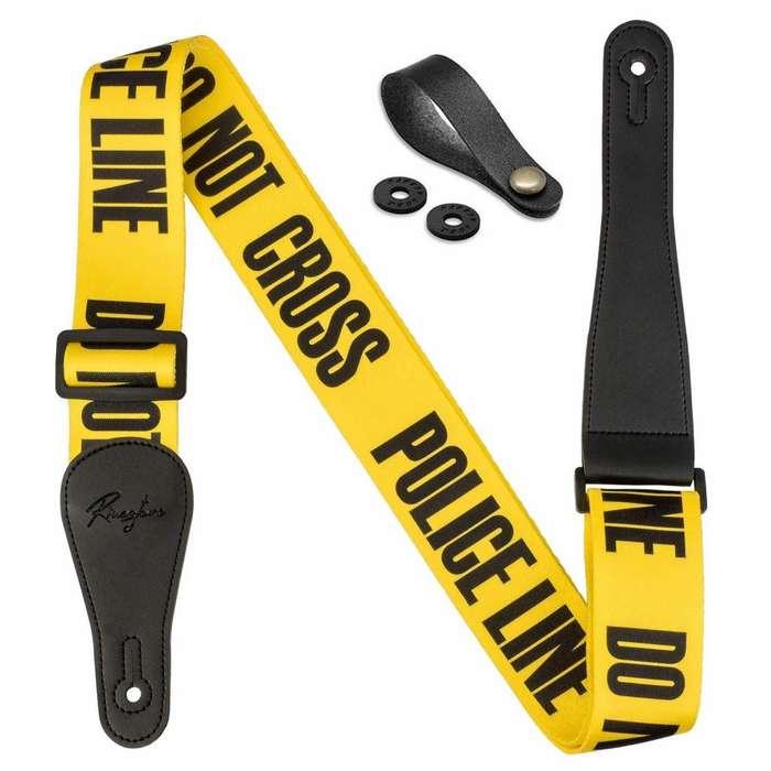 Correa / Strap Guitarra - Bajo Policia Police Line Amarilla