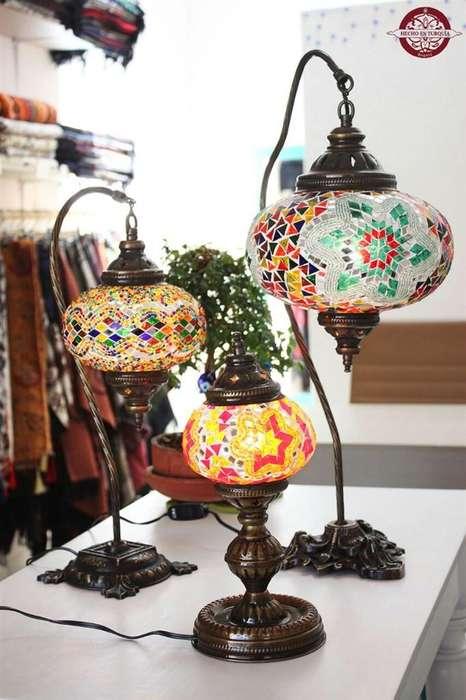 Lamparas turcas mosaicas de <strong>mesa</strong>