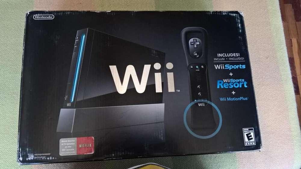 Nintendo Wii Black Edition 2 juegos originales