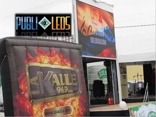 carro valla led, escenario movil, btl, publicidad