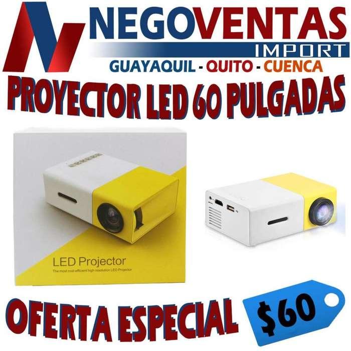 MINI PROYECTOR LED 60 PULGADAS ENTRADA HDMI RCA USB SD AUX