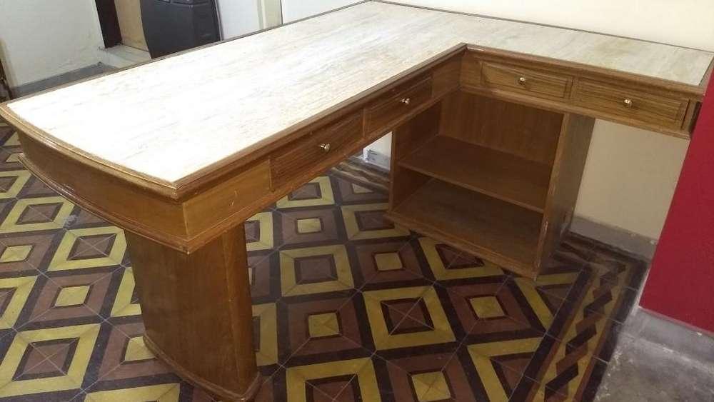 <strong>escritorio</strong> de Roble Y Mármol, Único