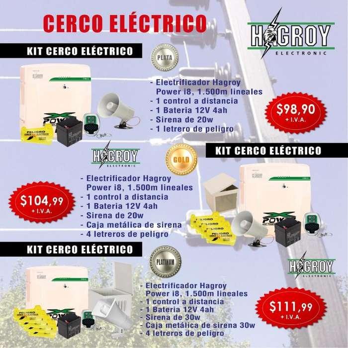 CERCOS ELECTRICOS CERRAMIENTO ELECTRIFICADO KIT DE CERCO ELECTRICO SEGURIDAD PERIMETRAL
