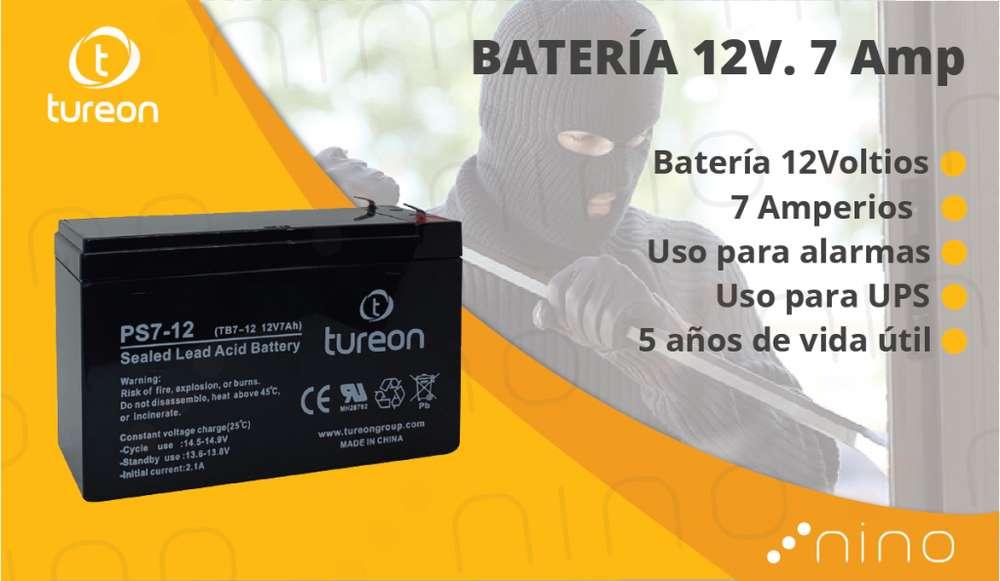 Bateria para alarma, UPS 12V 7 Amp