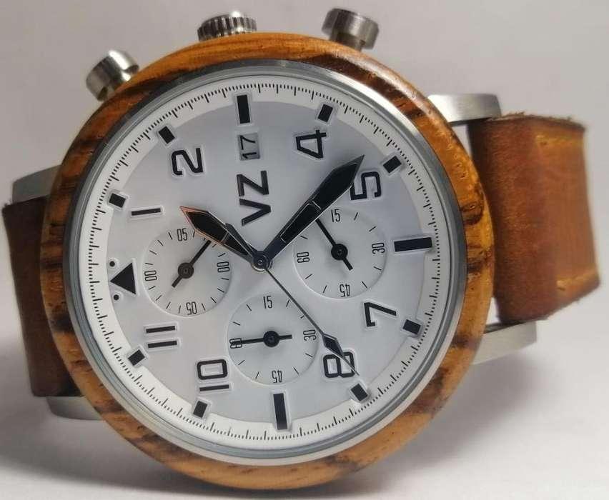 Reloj Velez Madera Cronografo