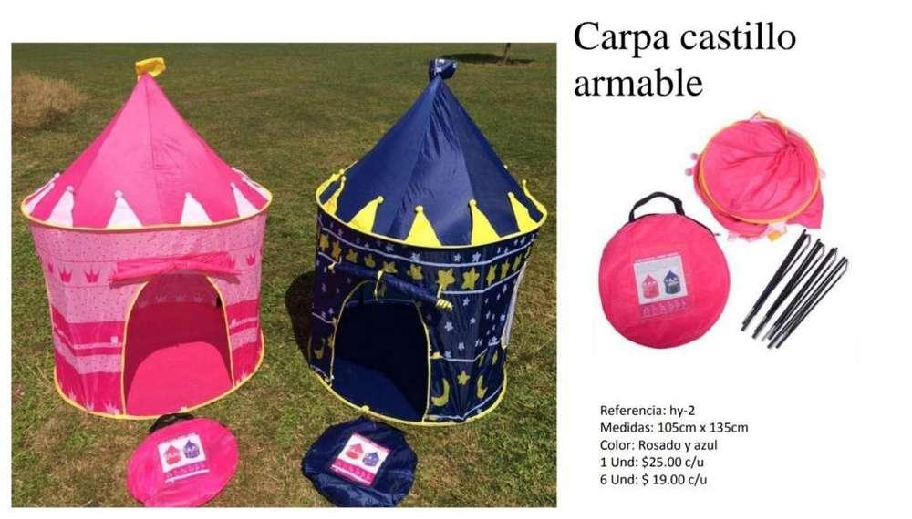 Carpa Castillo Armable para Niñ@s