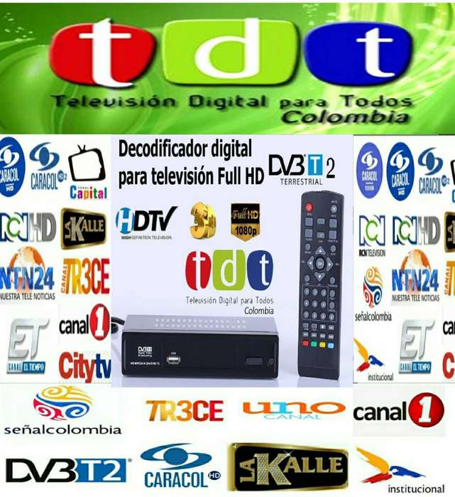 Combo Decodificador Tdt T2 Hd