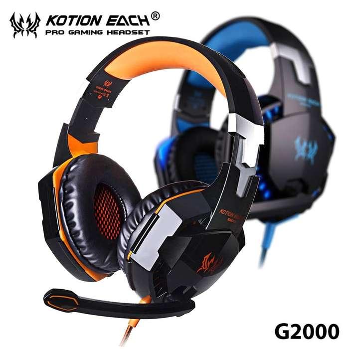 OFERTA SOLO POR SEPTIEMBRE NUEVOS AUDIFONOS GAMER KOTION EACH G2000 Y G4000 CON LUZ LED, STEREO MICROFONO