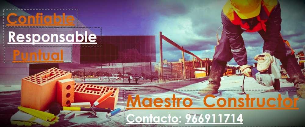 MAESTRO CONSTRUCTOR DE OBRA ALBAÑIL SERVICIOS