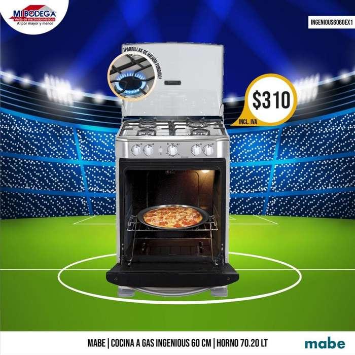 Cocina A Gas Mabe Ingenious 6060ex1 60 Cm 4 Quemadores