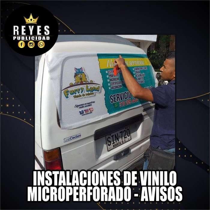INSTALACION DE AVISOS LUMINOSOS BAKING VINILOS VALLAS MICROPERFORADO PUBLICIDAD INSTALADOR CALI