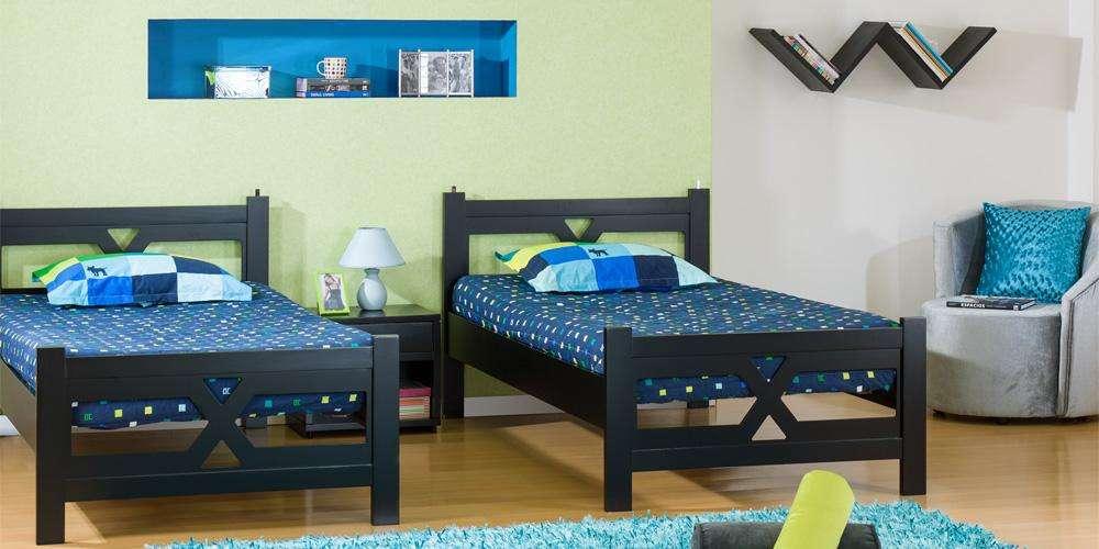 cama sencilla colchon marca Muebles Jamar