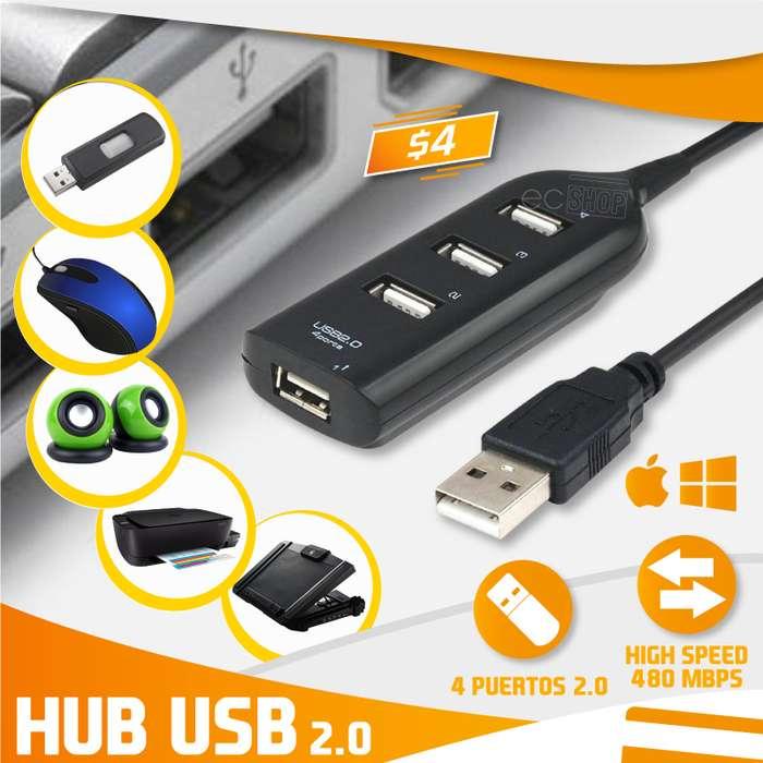 HUB USB 2.0 - 4 PUERTOS