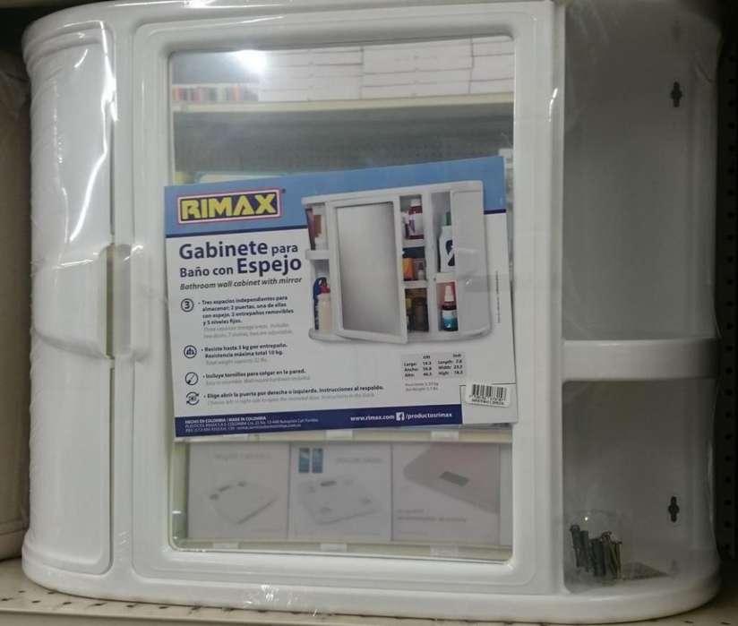 Gabinetes plásticos para baño con espejo