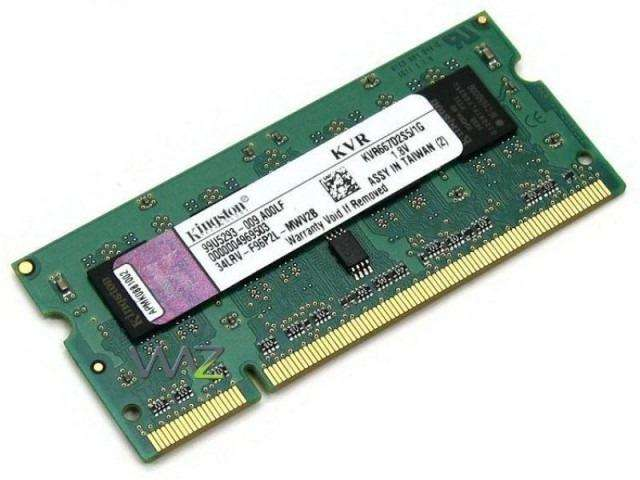 <strong>memoria</strong> Ram Kingston Ddr3 1gb 1333mhz Cl9 Sodimm Notebook