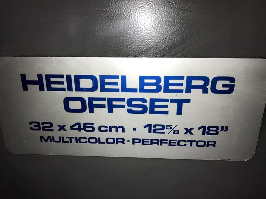 Vendo o cambio imprenta offset Heidelberg Gto 46 Bicolor Perfector