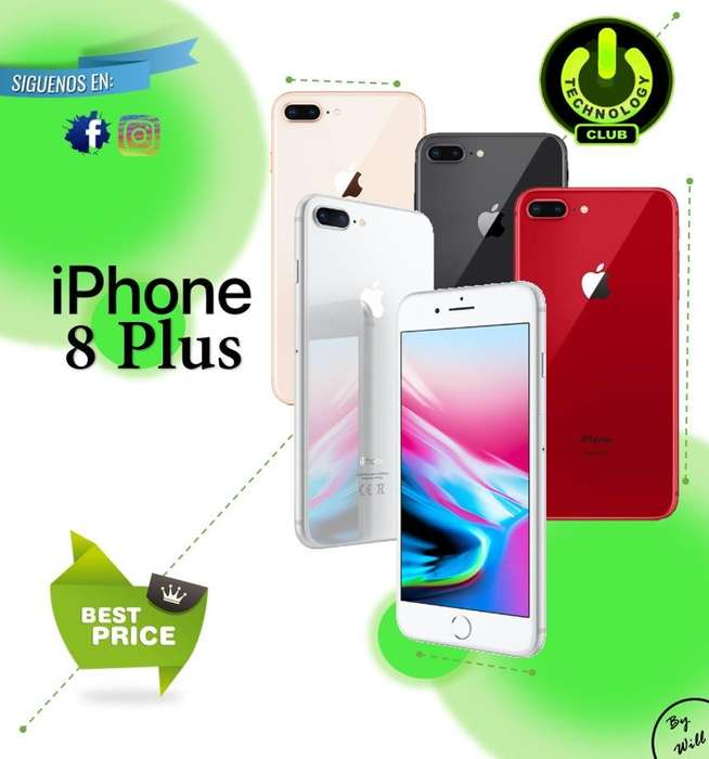 Iphone 8 Plus Camara Full HD A11 Bionic Apple / Tienda física Centro de Trujillo / Celulares sellados Garantia 12 Meses
