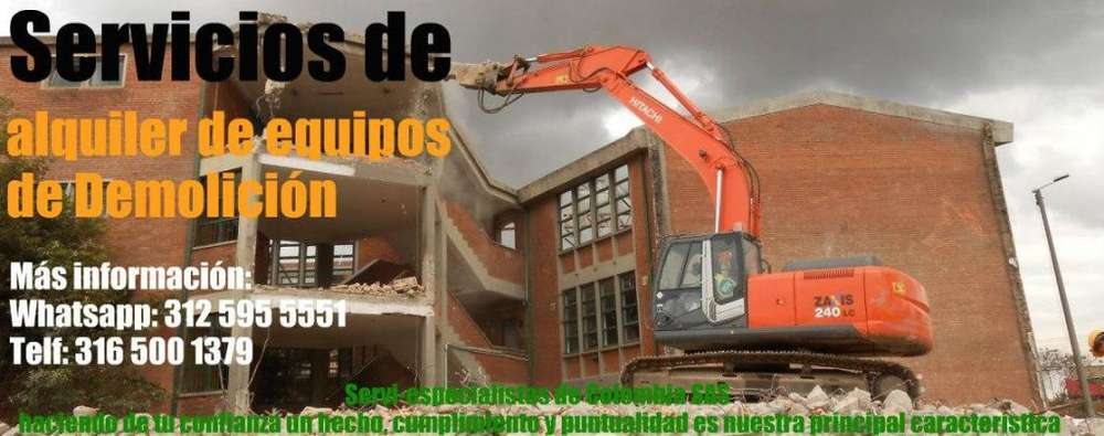 Servicio de alquiler Equipos De Demolición