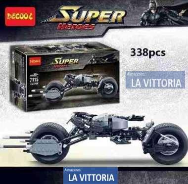 Moto Batman Tipo Lego 338 Piezas