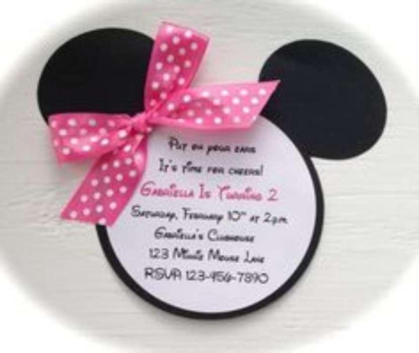 Invitaciones Minnie Personalizadas