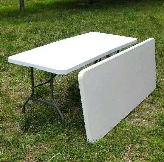 <strong>mesa</strong> plegable 1.8 m x 0.70 m blanca usadas