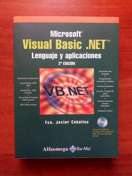 Libro Visual Basic.Net Lenguaje y Aplicaciones Mas CD, Editorial Alfaomega, Sin Marcas Excelente Estado