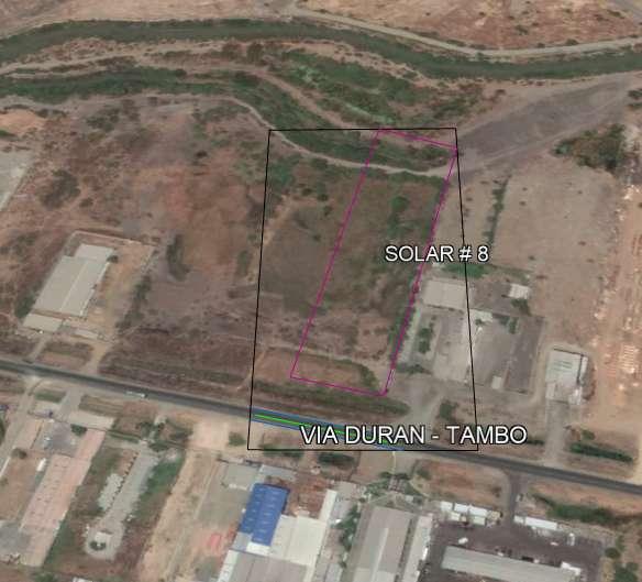 Terreno 14.655 m2 , Vendo Vía Durán – Tambo, km 7 frente mercado mayorista