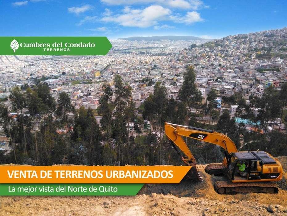 Terrenos urbanizados con escrituras individuales en el norte de Quito desde 200 metros