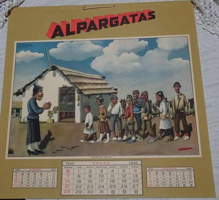 Almanaque año 1940 con láminas de Molina Campos