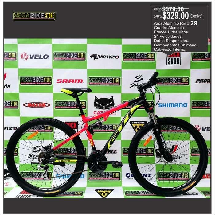 Distribuimos Bicicletas Montañeras Rin aro 29 en Aluminio, Originales importadas, disco de freno, suspencion. ruta