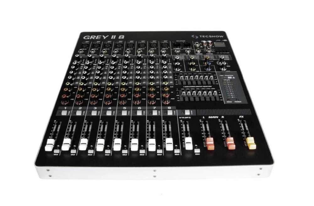 Consola Sonido Tecshow Grey 8 Usb 8 Canal 1 St Usb !!!