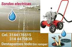 Sondas Electricas Plomeros Plomeria