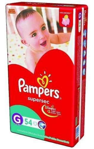 Pañal pampers Supersec rojo todos los talles Mx66 Gx54 XGx44 XXGx40 LANUS zona sur