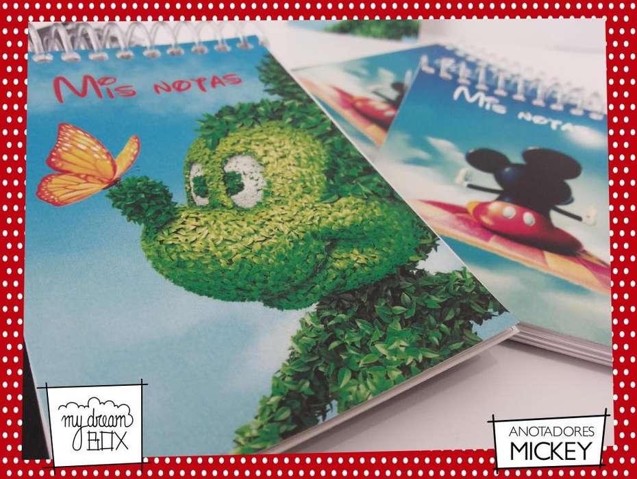 Mickey Minnie Disney Personalizado Anotadores rayado renglones souvenir cumpleaños