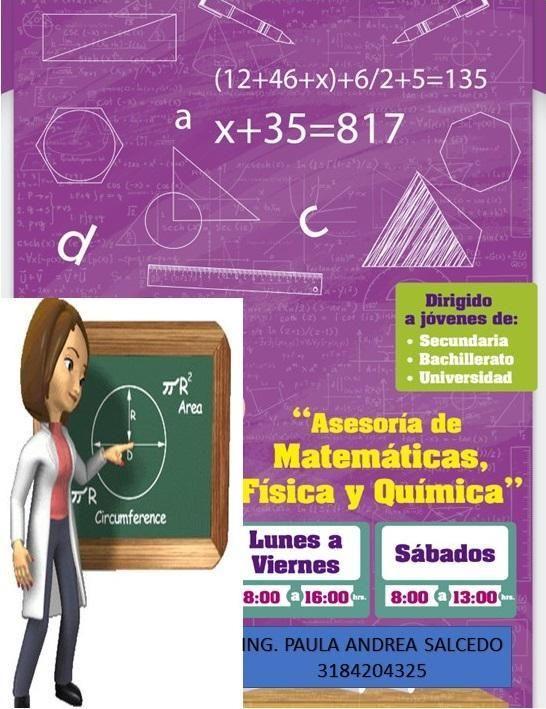 Asesoria en Matematicas, Algebra, Trigonometria, Calculo.