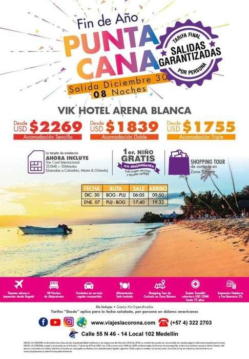 Viaje como un Rey en Fin de año a Punta Cana con Viajes la Corona