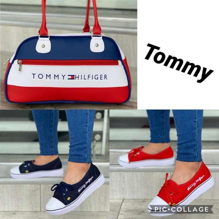 Mocasin Y Bolso Tommy