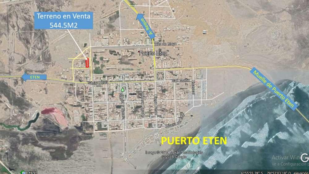 OPORTUNIDAD Terreno en Puerto Eten 554.5m2
