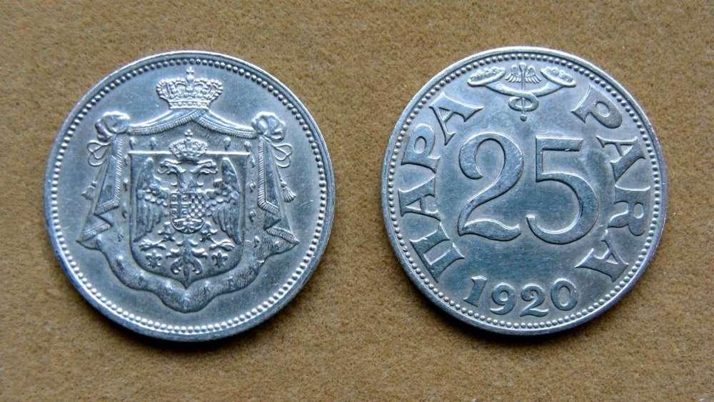Moneda de 25 para Yugoslavia 1920