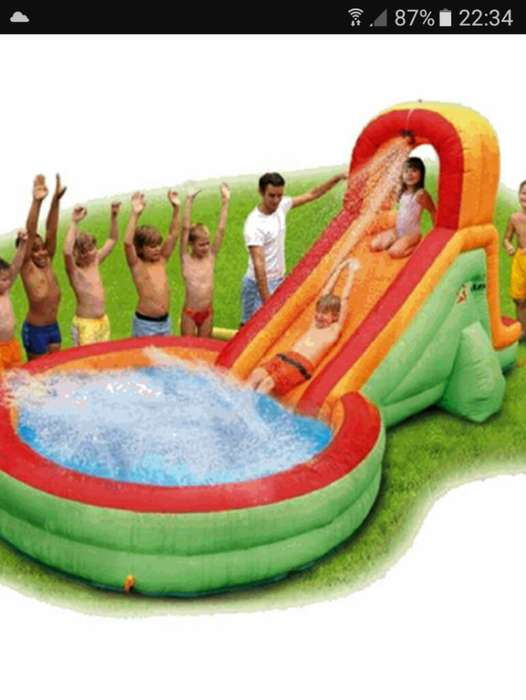Piscina Tobogan Inflable.con Turbina.