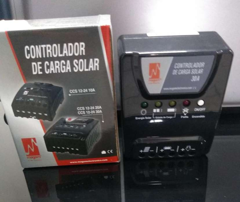 CONTROLADOR DE CARGA 12/24V-30A MARCA CARSPA