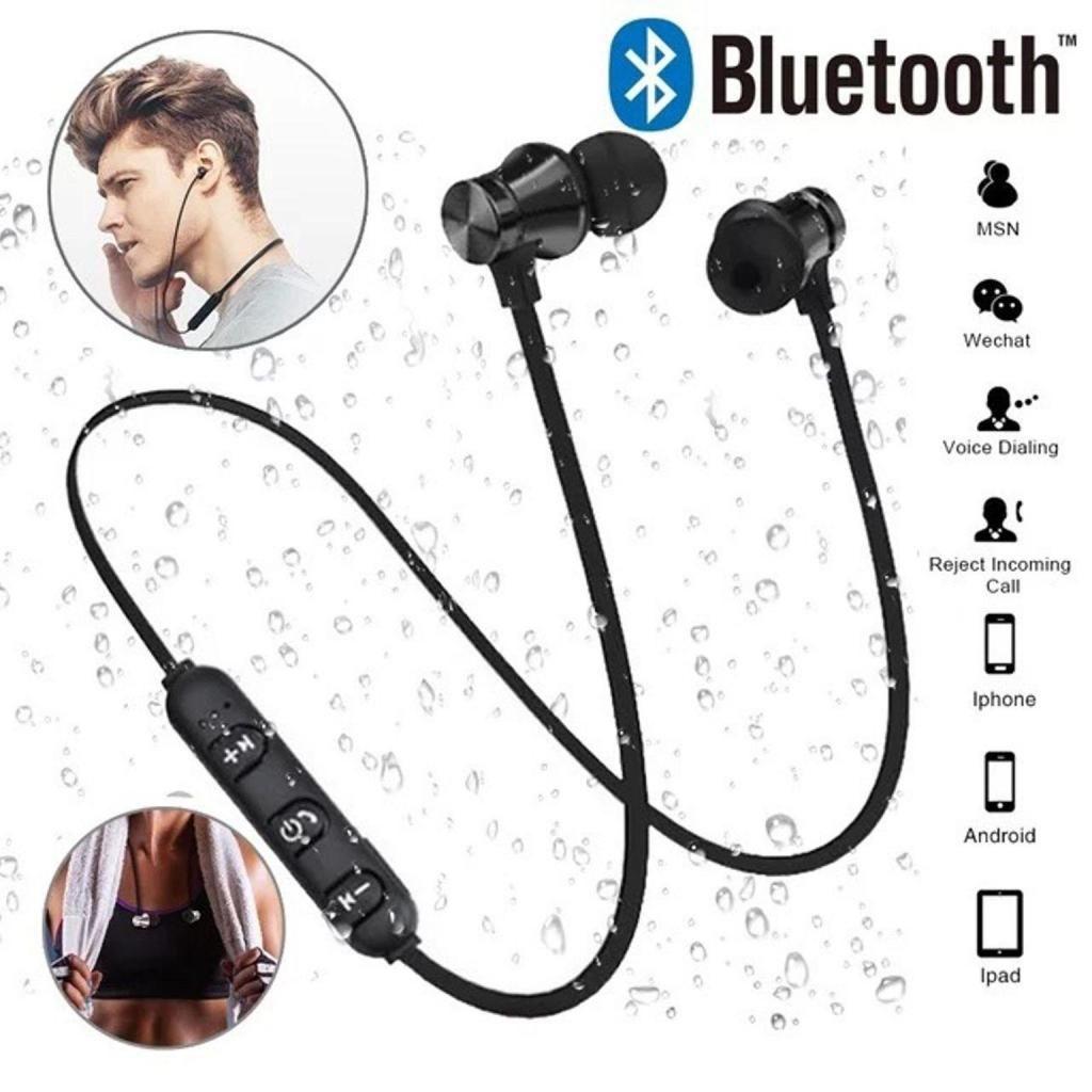 9a66856b53d DOMICILIO GRATIS Audífonos, Auriculares inalambricos Bluetooth magneticos  color plata