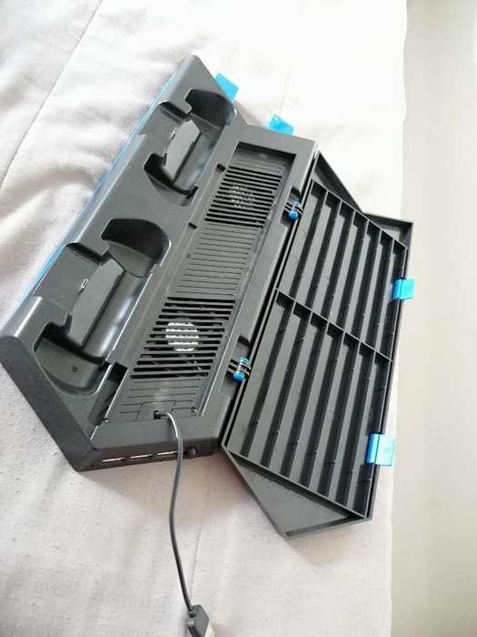 Base Cargador Y Ventilador Ps4.
