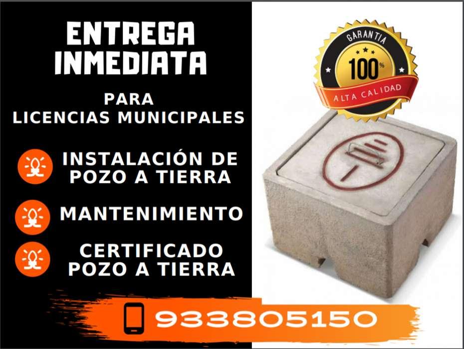Instalación de pozo a tierra con Protocolo o Certificado - Libre de mantenimiento
