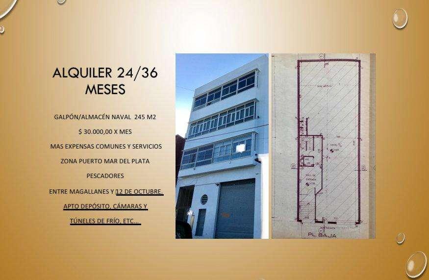 ALQUILER 24/36 MESES GALPÓN en edificio PH-PUERTO MAR DEL PLATA