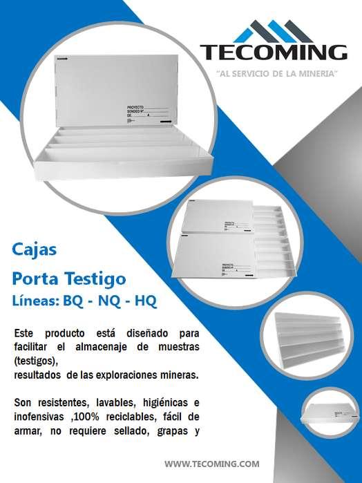 CAJAS PORTA <strong>testigo</strong> DE MATERIAL CARTÓN PLAST