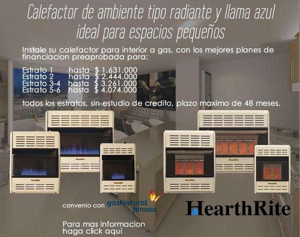 Calefactores de ambiente a gas natural Calefaccion