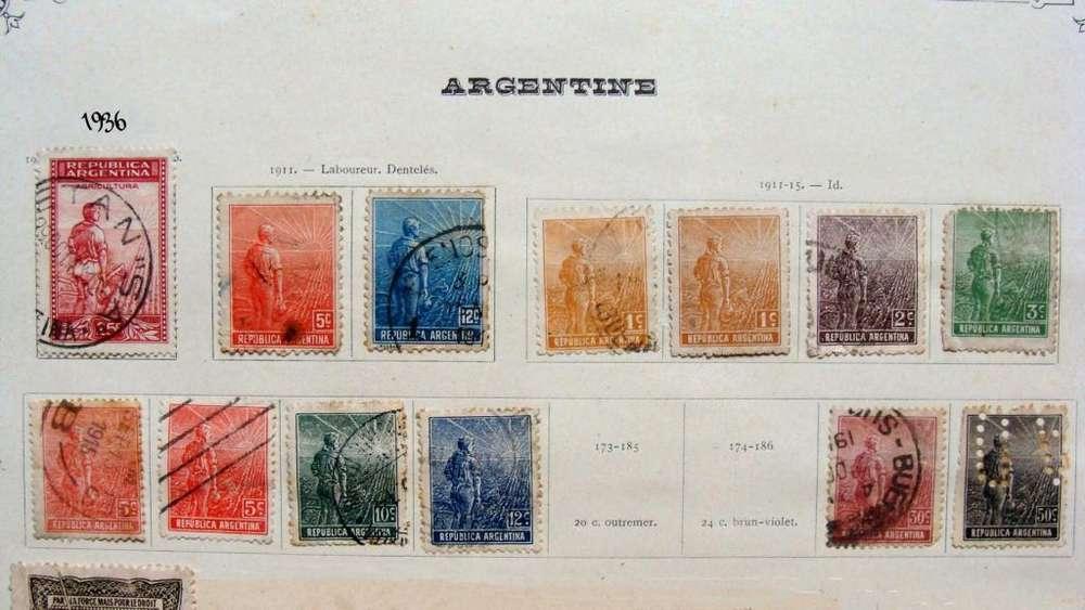 Sellos postales de Argentina 1911 – 1936