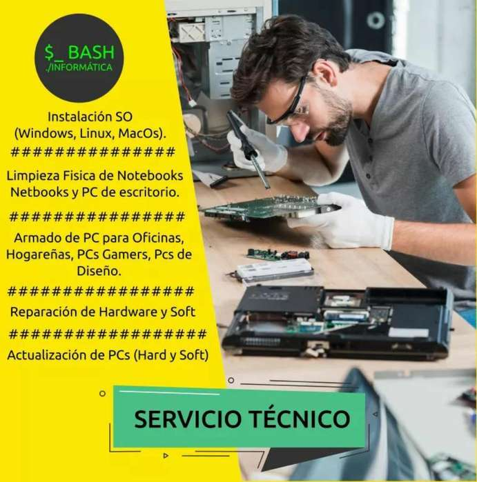 Servicio Tecnico Pc, Notebooks, Netbooks