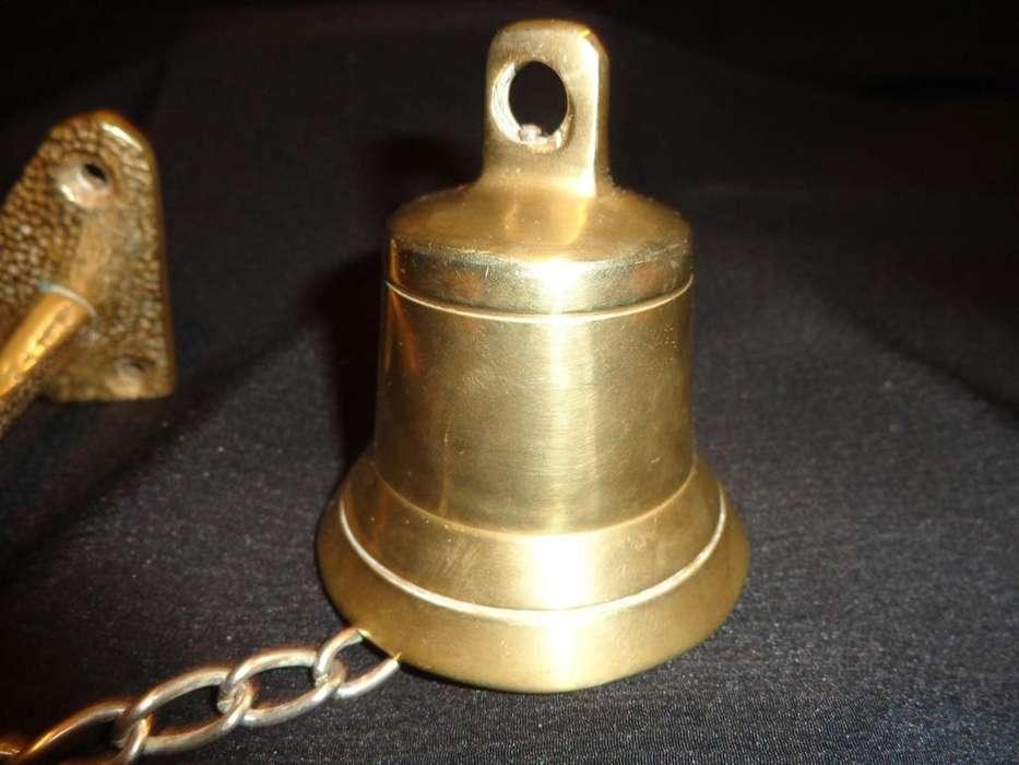 LLAMADOR <strong>campana</strong> DE BRONCE MACIZO CADENA Y SOPORTE